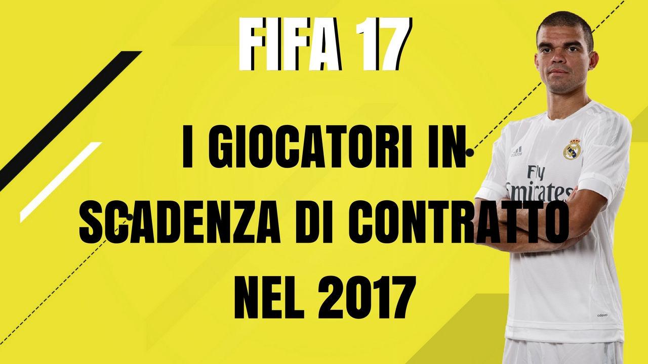 Trucchi carriera allenatore Fifa 17: i calciatori in scadenza di contratto nel 2017