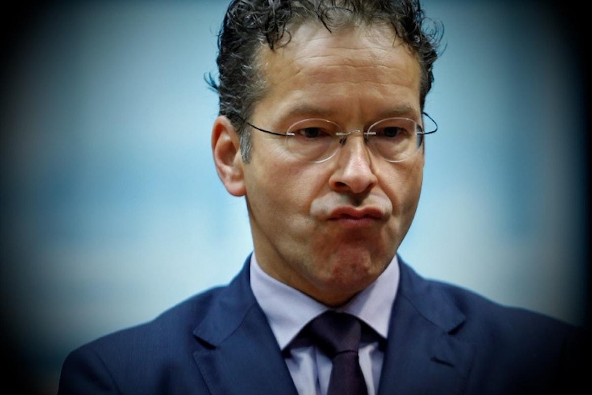 Il Presidente dell'Eurogruppo Dijsselbloem accusato di parole razziste, xenofobiche e sessiste nei confronti dei paesi del Sud Europa