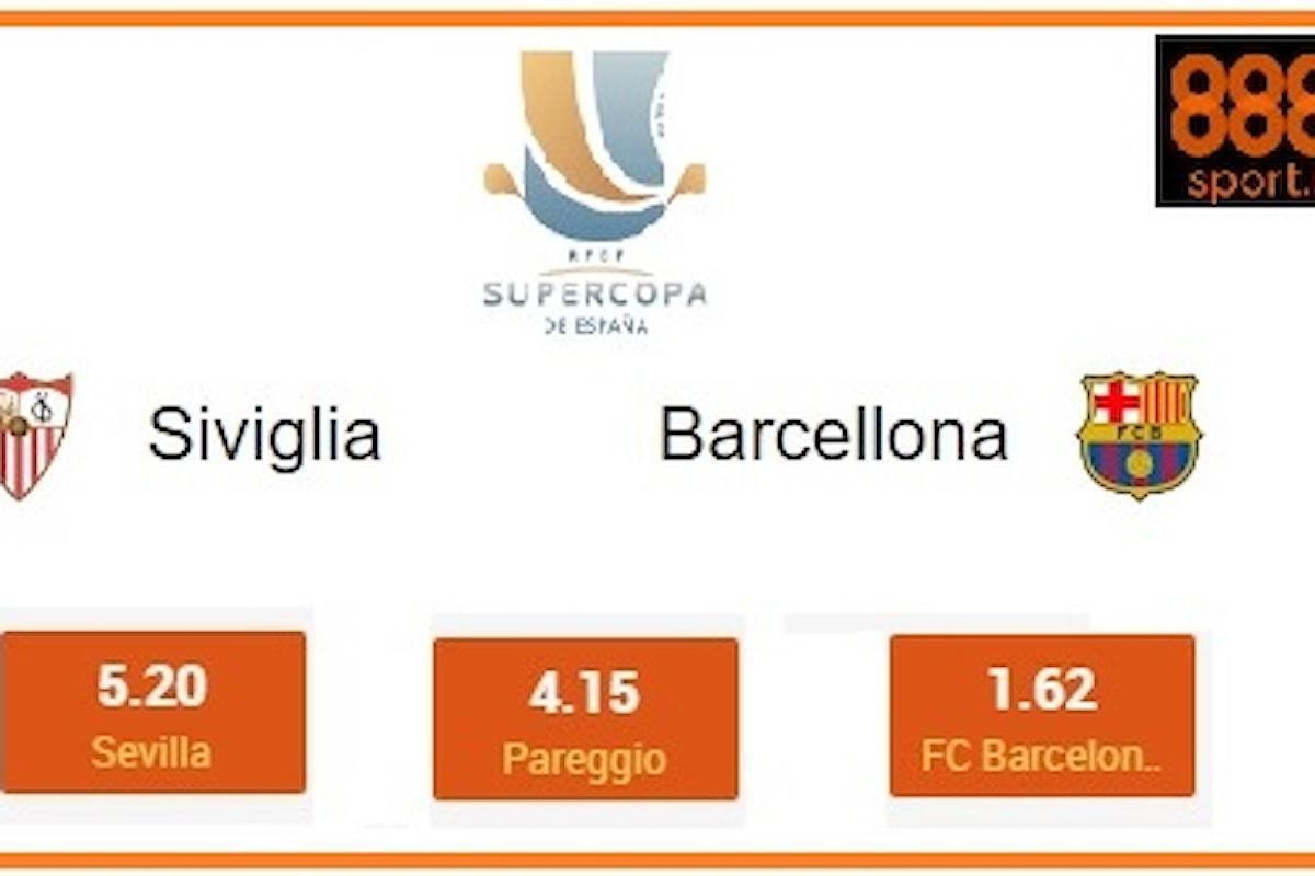 SUPERCOPPA SPAGNOLA : Siviglia, a quota 5,00 il riscatto con il Barça