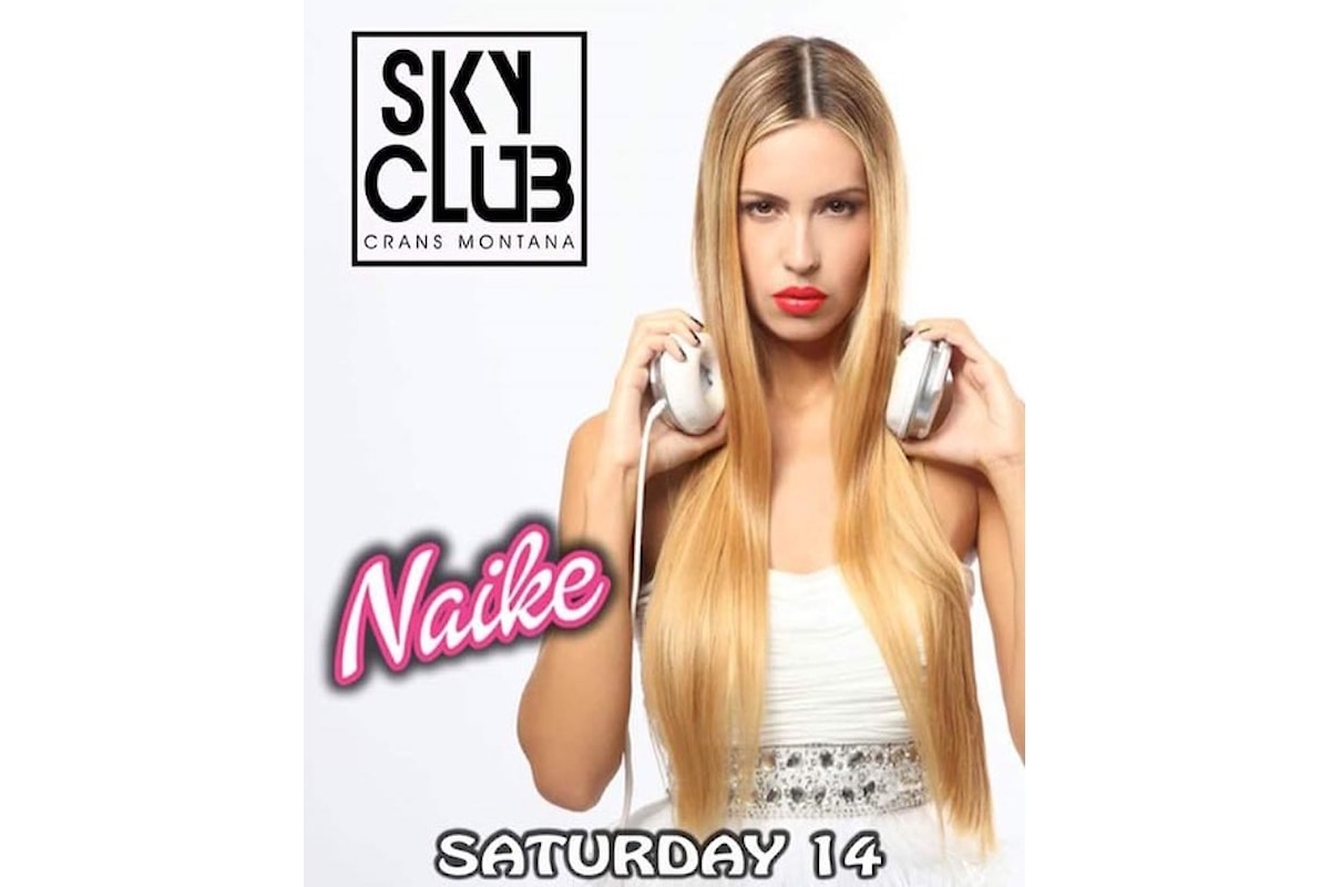 Dj Naike fa ballare lo Sky Club di Cras Montana (Svizzera)