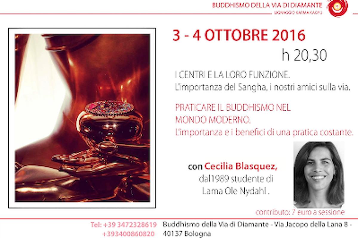 Conferenza pubblica con Cecilia Blasquez presso il Centro Buddista della Via del Diamante di Bologna