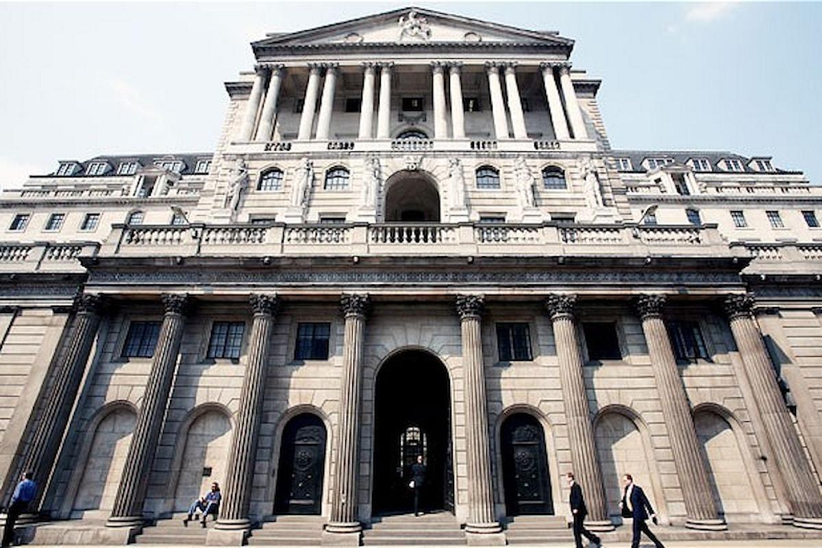 La Banca d'Inghilterra riduce il tasso di sconto al livello più basso da 322 anni