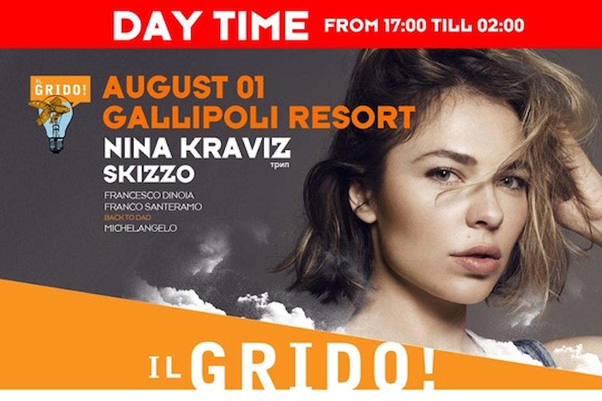 1 agosto, Nina Kraviz a Il Grido! c/o Gallipoli Resort daytime event
