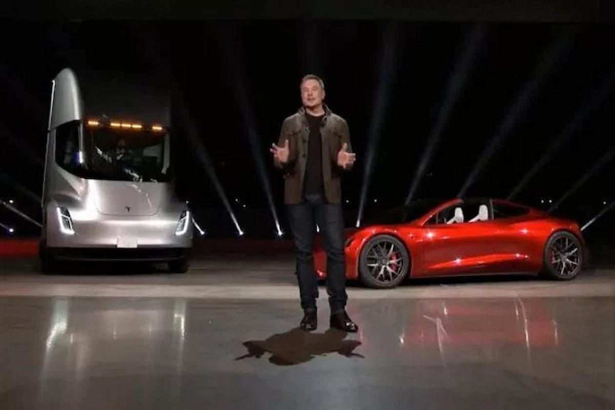 Gli annunci di Tesla, un camion ed una roadster, incompatibili con le risorse dell'azienda