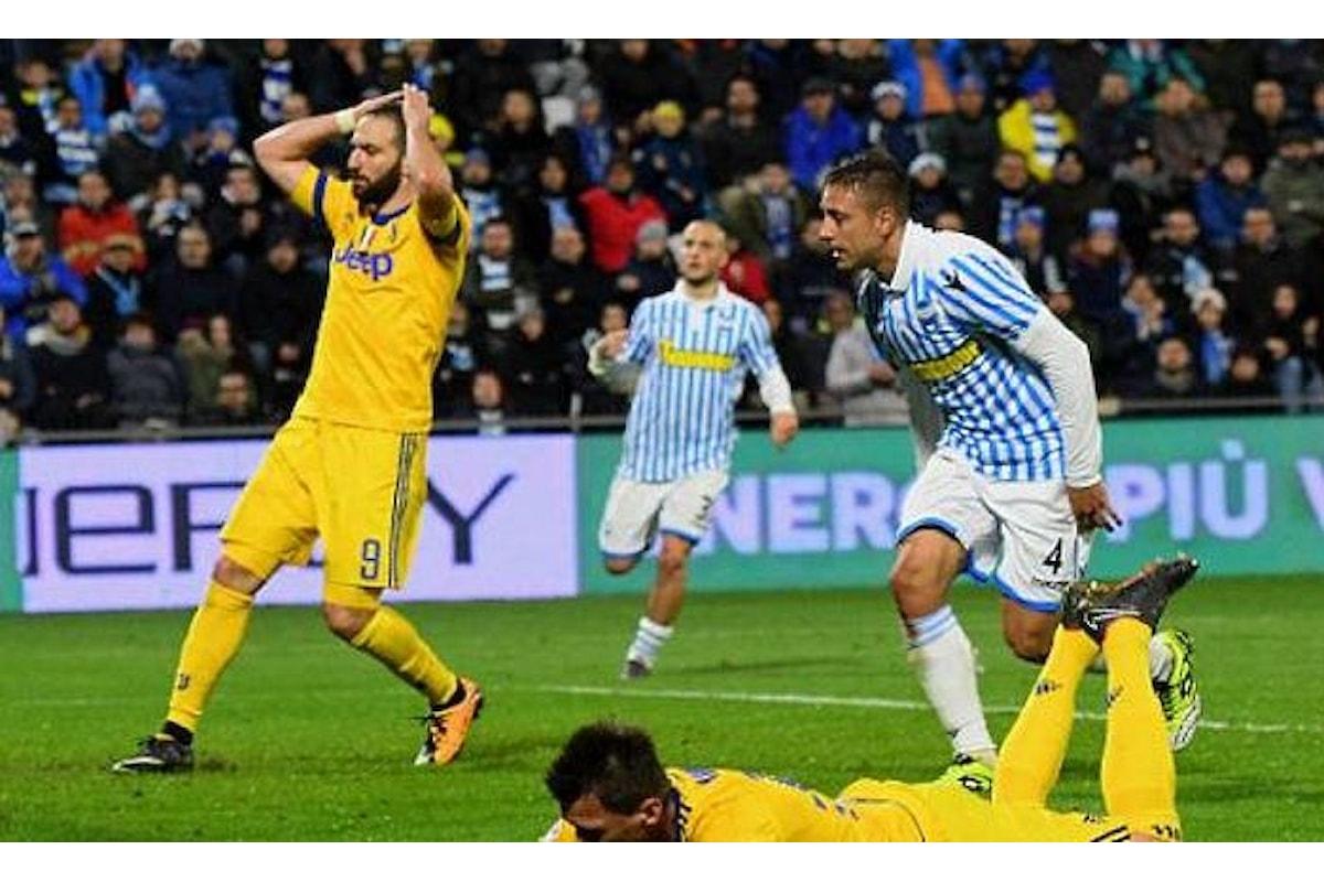 Battuta d'arresto per la Juventus fermata a Ferrara sullo 0-0 dalla Spal