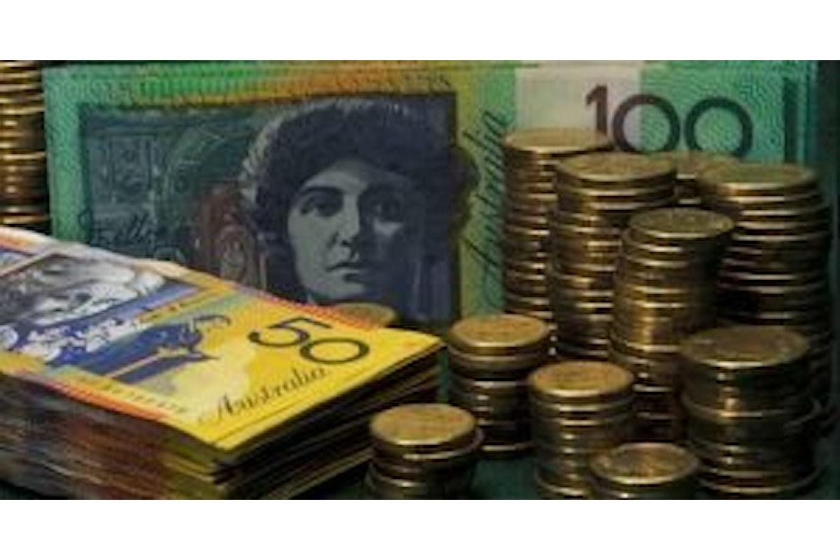 Forex: AUD in ascesa contro il dollaro, ma i dati macro sono in chiaroscuro