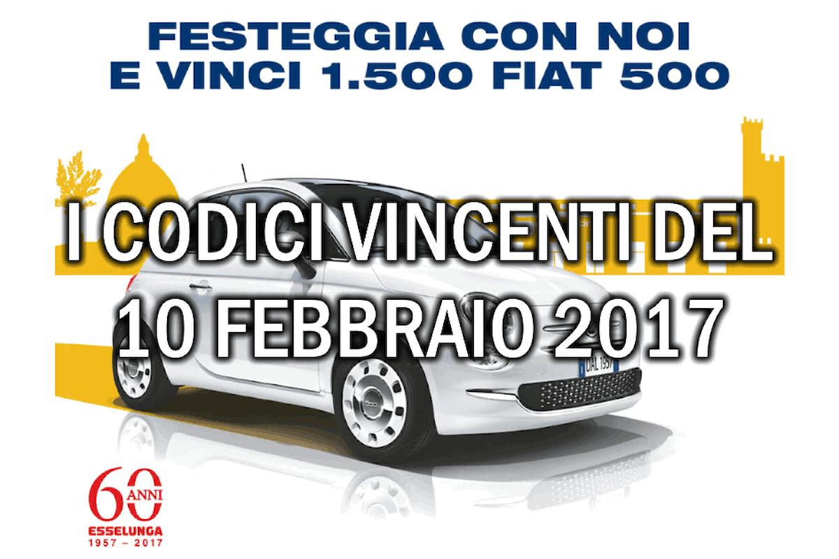 Esselunga:estratti i codici vincenti le 190 Fiat 500 di oggi
