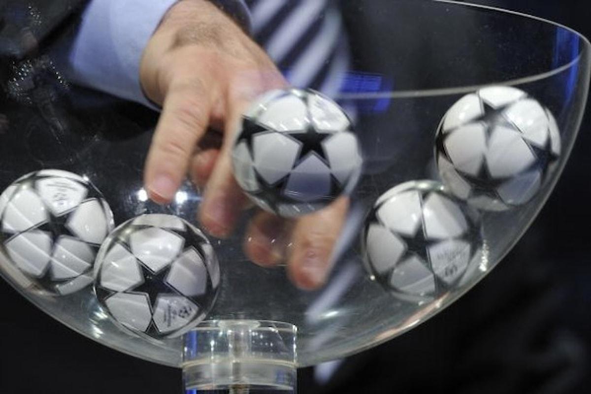 Sorteggi Champions League LIVE: ecco gli accoppiamenti (con possibilità di video in diretta)