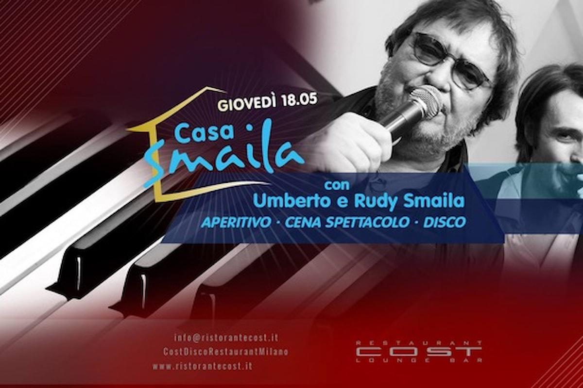 Cost Disco Restaurant Milano: 18/5 Casa Smaila, 19/5 Friday Night Party, 20/05 Saturday