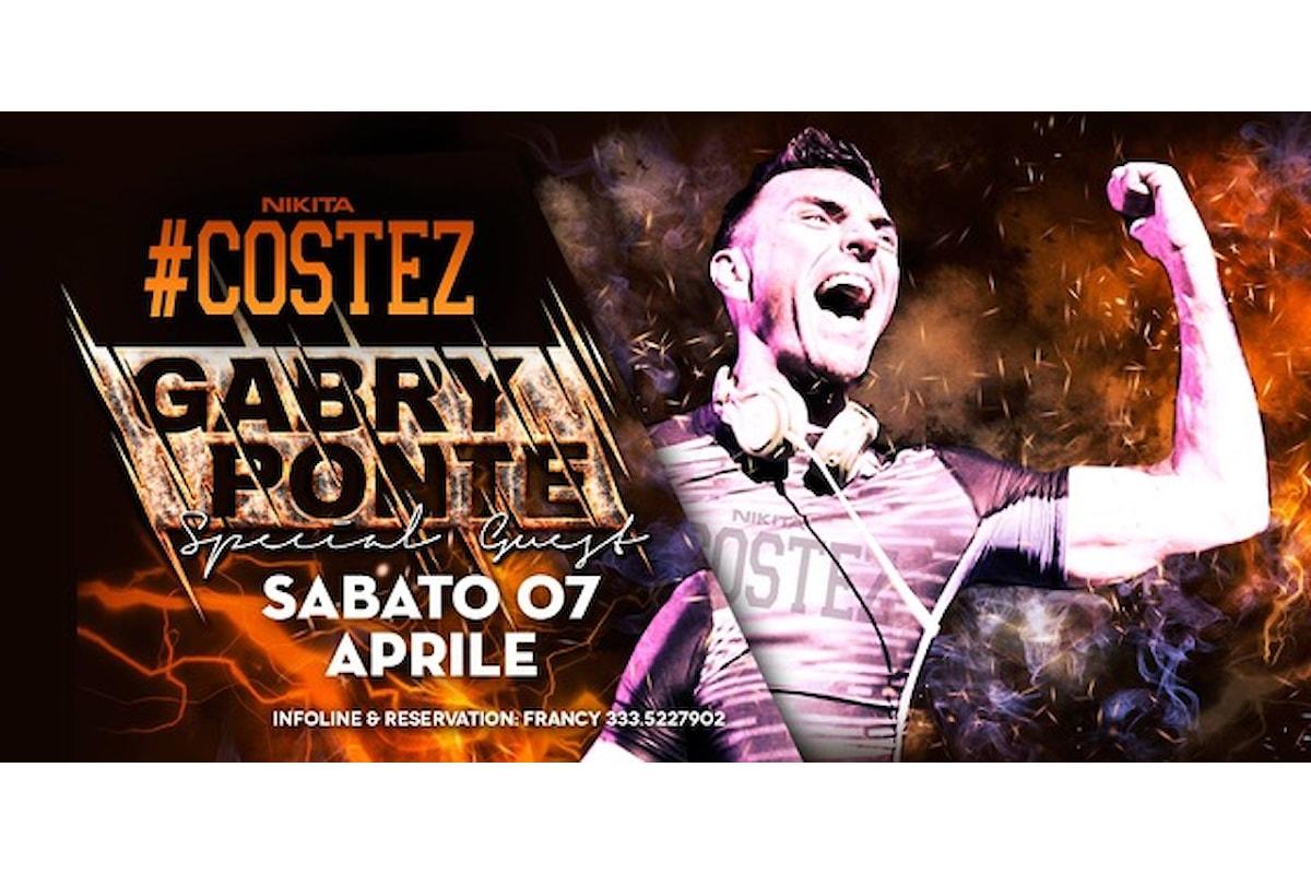 #Costez: stile al dj bar di Cazzago (BS)... e Gabry Ponte al Nikita Costez di Telgate (BG) il 7 aprile 2018