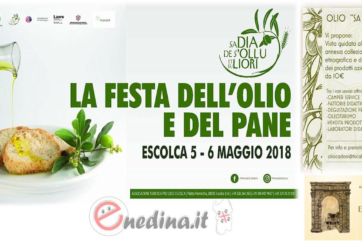 A Escolca va in scena la festa dell'olio e del pane, dal 5 al 6 maggio 2018